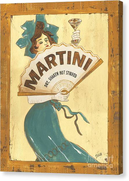 Gold Canvas Print - Martini Dry by Debbie DeWitt