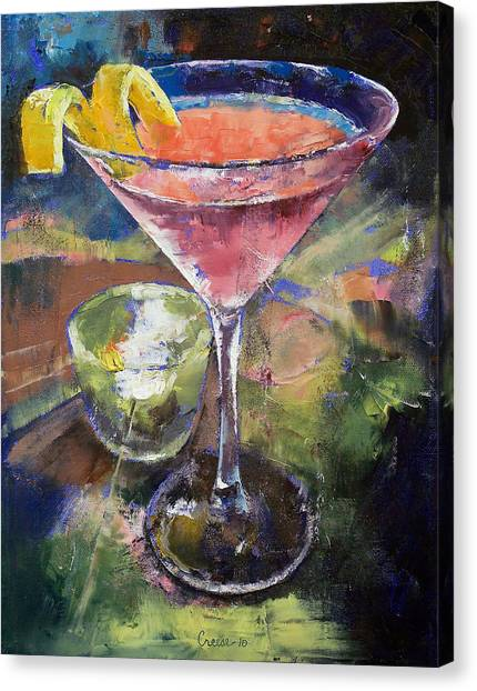 Gin Canvas Print - Martini by Michael Creese