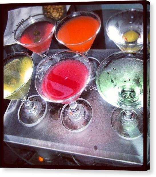 Martini Canvas Print - #martini #mini #cocktails #flavours by Georgina Moore