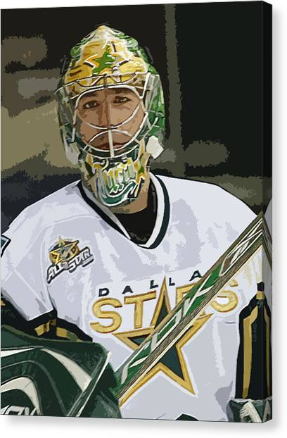 Dallas Stars Canvas Print - Marty Turco by Don Olea