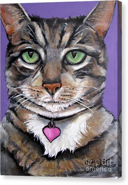 Marvelous Minnie The Gallery Cat Canvas Print