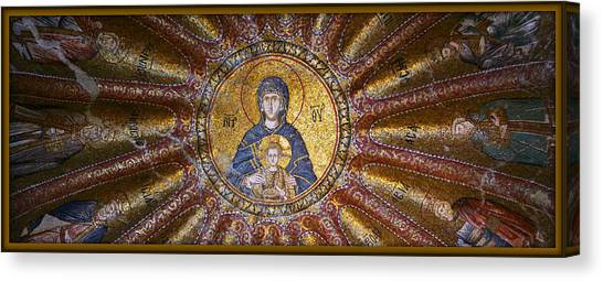 Old Christ Church Canvas Print - Blessed Virgin Mary And The Child Jesus by Stephen Stookey
