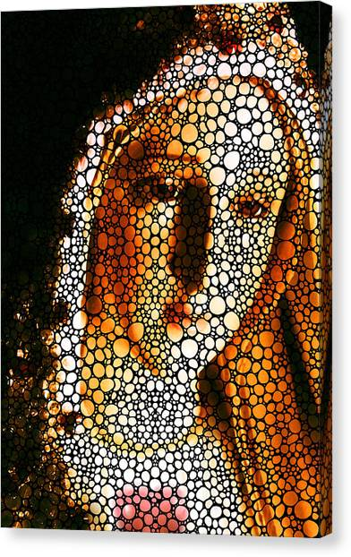 Christian Sacred Canvas Print - Mary - Holy Mother By Sharon Cummings by Sharon Cummings