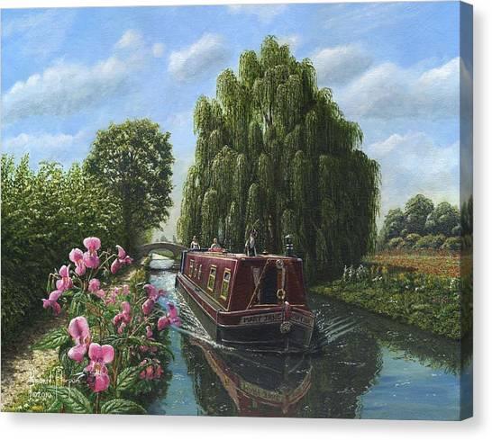 Nottinghamshire Canvas Print - Mary Jane Chesterfield Canal Nottinghamshire by Richard Harpum