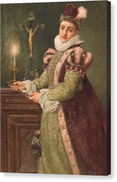 Queen Elizabeth Canvas Print - Mary Queen Of Scots by Sir James Dromgole Linton