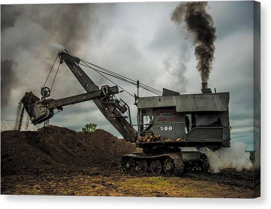 Excavators Canvas Print - Mary Sue by Paul Freidlund