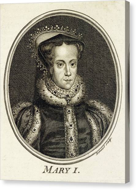 Mary Tudor  Catholic Queen Of England Canvas Print by Mary Evans Picture Library