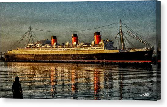 Mary Watches The Queenmary Canvas Print