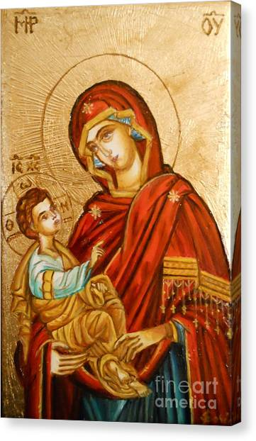 Mary With Jessus R.1 Canvas Print