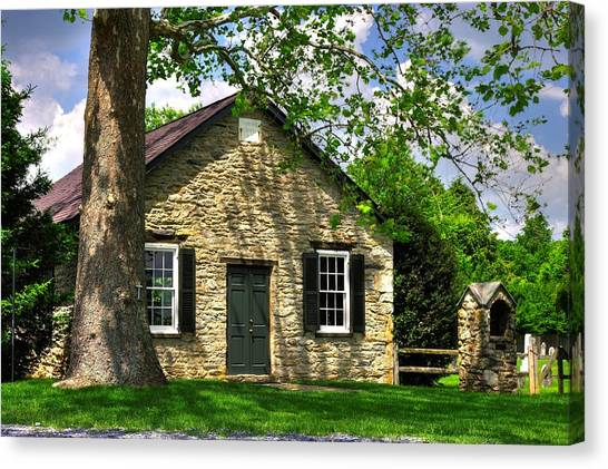 Maryland Country Churches - Fairview Chapel-1a Spring - Established 1847 Near New Market Maryland Canvas Print