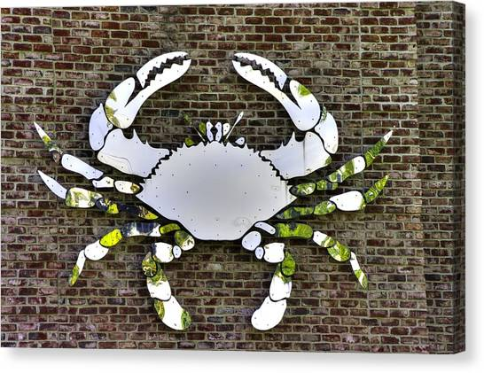 Blue Camo Canvas Print - Maryland Country Roads - Camo Crabby 1a by Michael Mazaika