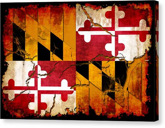 Super Maryland Flag Canvas Prints | Fine Art America QO73