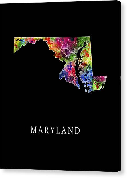 Johns Hopkins University Canvas Print - Maryland State by Daniel Hagerman