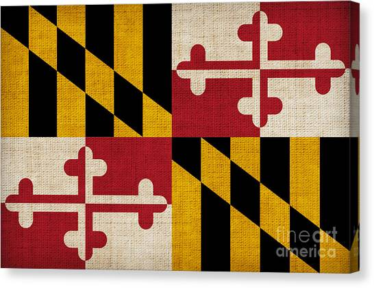 Patriot Canvas Print - Maryland State Flag by Pixel Chimp