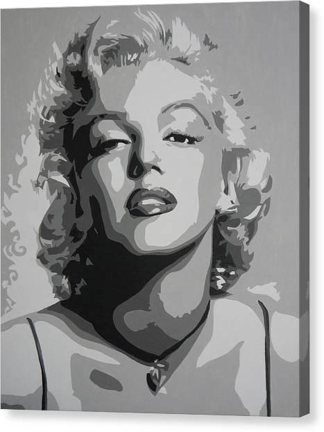 Canvas Print - Tribute To Marilyn Monroe by Bitten Kari