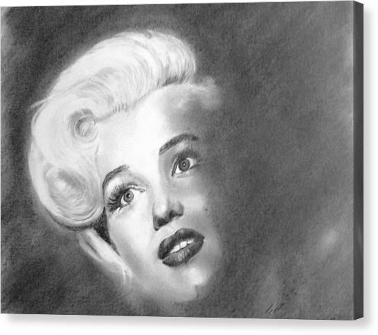 Marilyn- In The Shadows Canvas Print