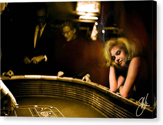 Marylin Monroe Las Vegas Canvas Print