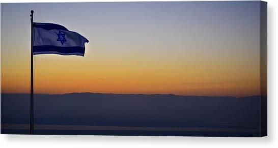Masada At Sunrise Canvas Print