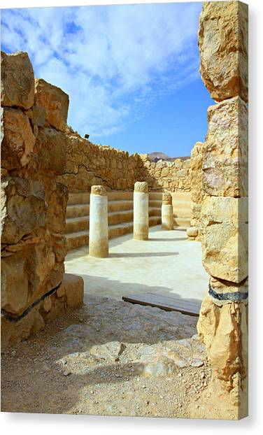 Hellenistic Art Canvas Print - Masada Synagogue by Stephen Stookey