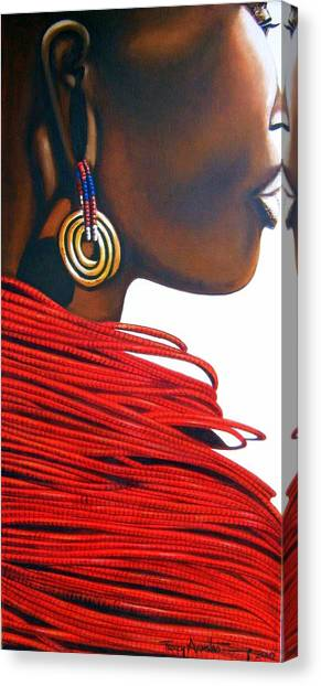 Masai Bride - Original Artwork Canvas Print
