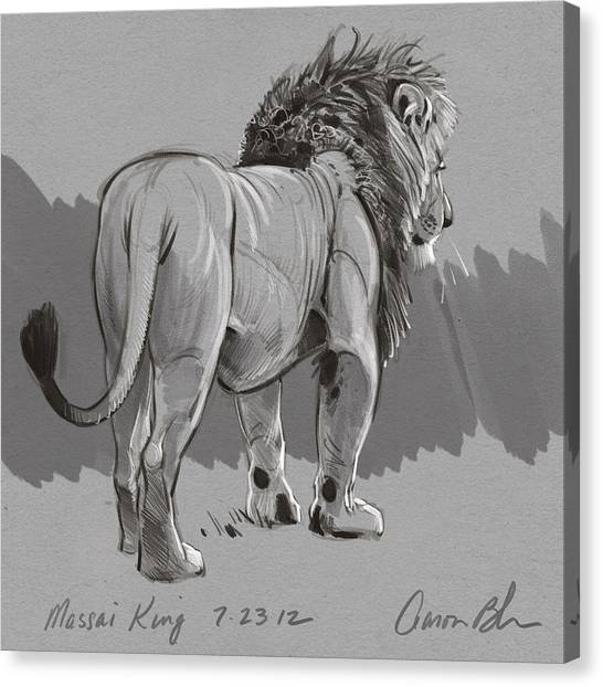 Masai King Canvas Print by Aaron Blaise