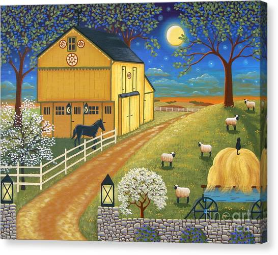 Mills Canvas Print - Mascot Mills Barn by Mary Charles
