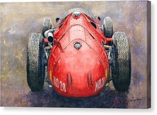 Papers Canvas Print - Maserati 250f Back View by Yuriy Shevchuk