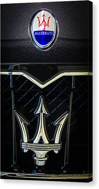 Maserati Badge Canvas Print