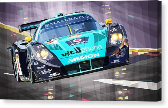 Racing Canvas Print - Maserati Mc12 Gt1 by Yuriy Shevchuk