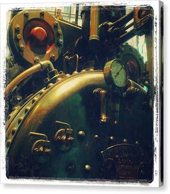 Steampunk Canvas Print - #mashines ... #steamengine #engine by Alexandra Cook