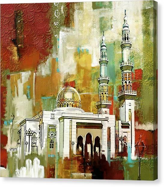 Kuwait Canvas Print - Masjid Zahra by Corporate Art Task Force