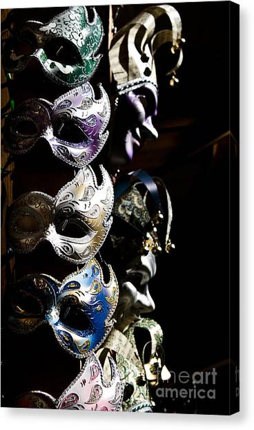 Mask In Florence Canvas Print by Marco Affini
