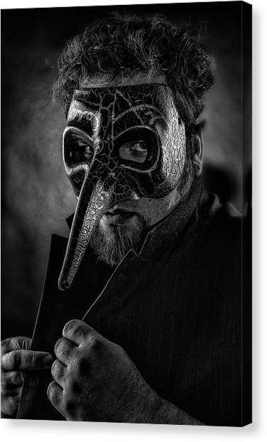 Mask Of The Red Death Canvas Print