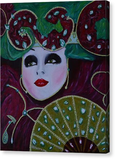 Mask Parade Canvas Print by David Hawkes