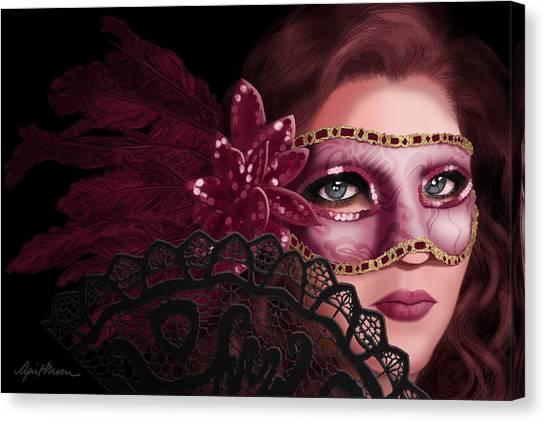Mardi Gras Canvas Print - Masked I by April Moen