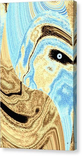 Masked- Man Abstract Canvas Print