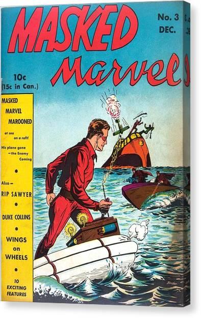 Masked Marvel Canvas Print