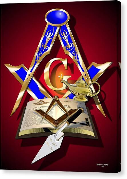 Fraternity Canvas Print - Masonic Education by Stephen McKim