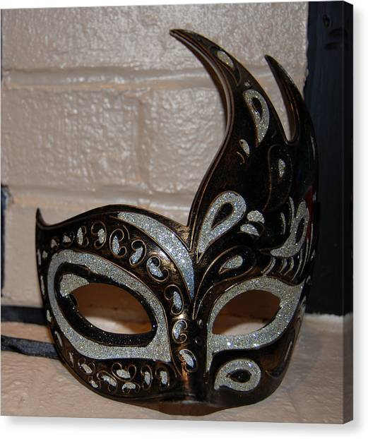 Mardi Gras Canvas Print - Masque by Kristen Coll