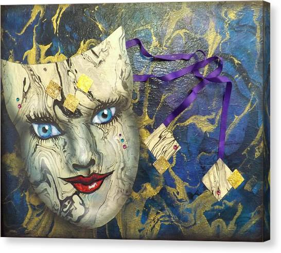 Masquerade Blues Canvas Print