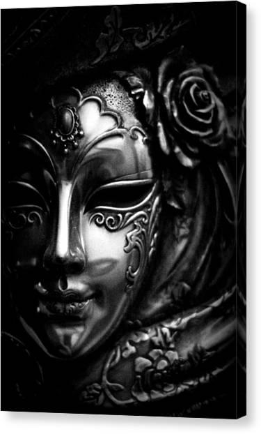 Masquerade In Grey Canvas Print