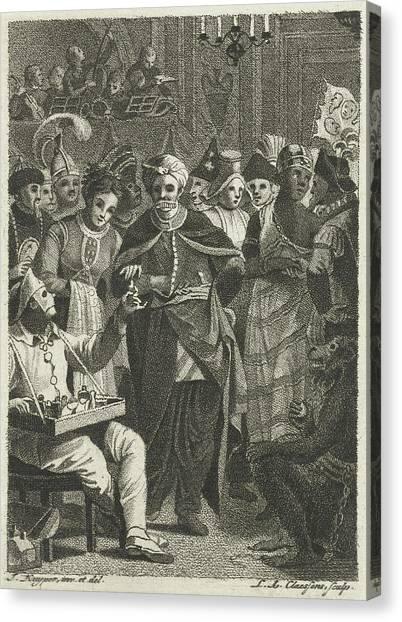 Jazz Canvas Print - Masquerade, Lambertus Antonius Claessens by Lambertus Antonius Claessens