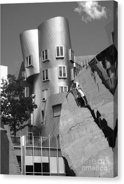 Beavers Canvas Print - Massachusetts Institute Of Technology Stata Center by University Icons