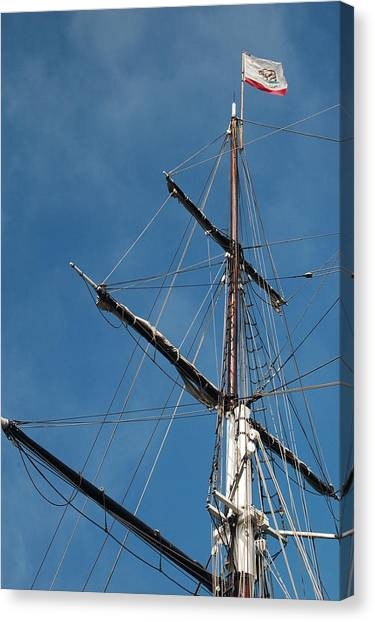 Mast Canvas Print by Jean Booth