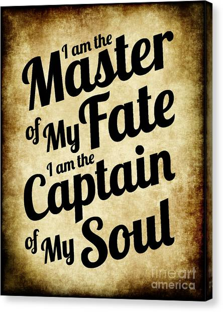 Master Of My Fate - Old Parchment Style Canvas Print