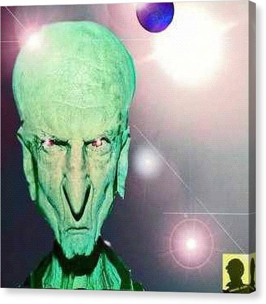 Ufos Canvas Print - Master Of The Panatron by Urbane Alien