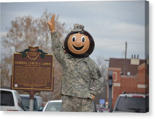 Rotc Canvas Print - Master Sergeant Brutus by Dick Hudson