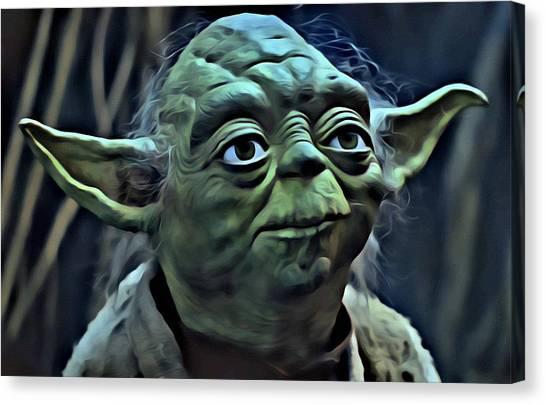 Yoda Canvas Print - Master Yoda by Florian Rodarte