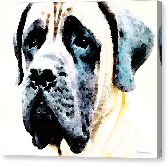 Mastiffs Canvas Print - Mastif Dog Art - Misunderstood by Sharon Cummings