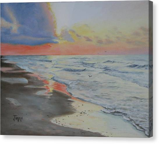 Matagorda Beach Sunrise Canvas Print